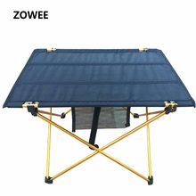 Outdoor Camping Folding Table with Aluminium Alloy Table Waterproof Ultra-light Durable Folding Table Desk For Picnic& Camping(China)