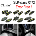 11pcs Error Free LED interior light Reverse Bulb Kit for Mercedes SLK class R172 SLK200 SLK250 SLK300 SLK350 SLK55 AMG (2011+)