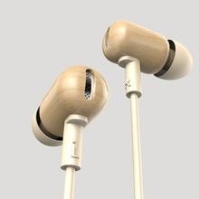 New Original DZAT DF 10 3 5mm In Ear Earphone DIY Wooden DJ Headset Pure Wood