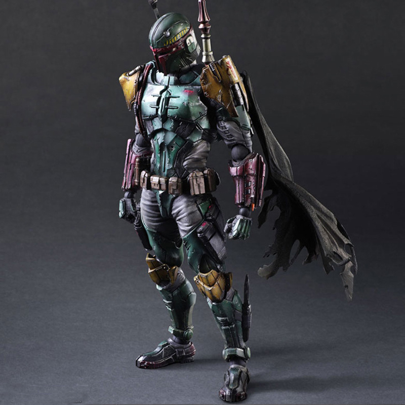 27cm Boba Fett With Weapons Play Arts Star Wars Action Figure Toys Decor Kits for Car Kids Gift Diy Toys for Christmas micro mini tesla coil with a beautiful head diy kits for kids diy toys
