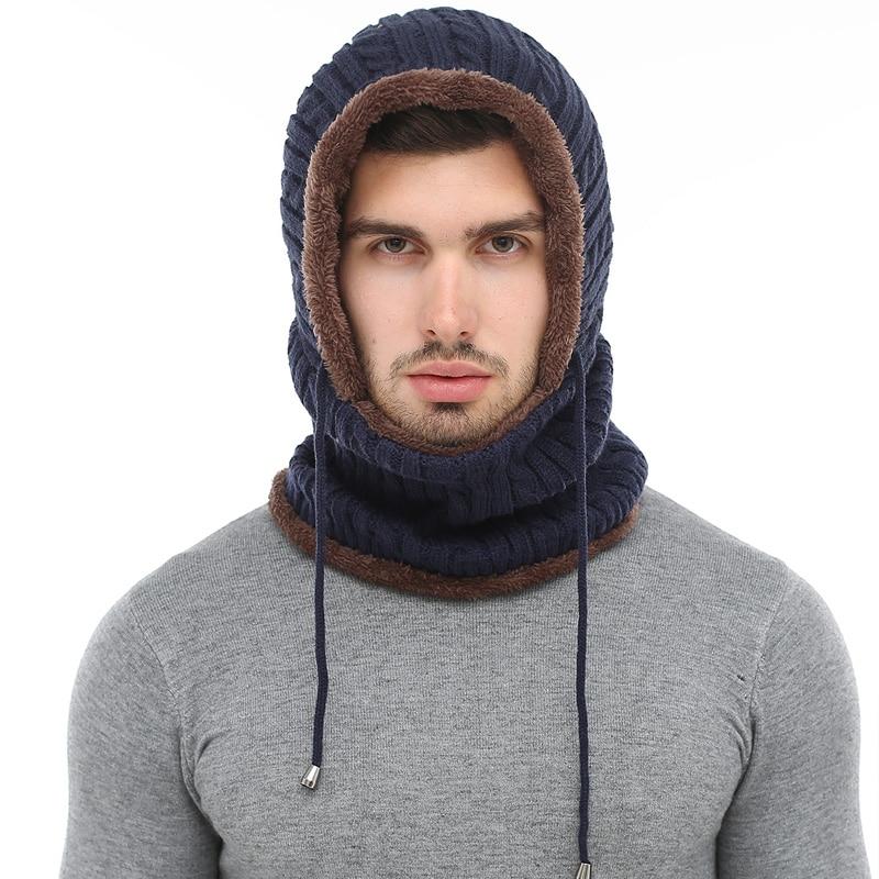 b911a2bc165 XINGMING Winter Knitted Hat Beanie Men Scarf Skullies Beanies Winter Hats  For Women Men Caps Gorras Bonnet Mask Brand Hats 2019-in Skullies   Beanies  from ...