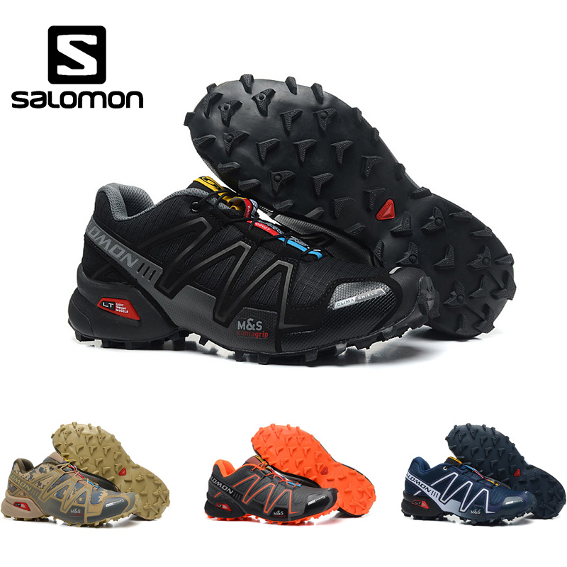 Salomon Speed Cross 3 Cs III Men Running Shoes Professional Outdoor Male Flywrite Athletic Sport Shoes Speedcroo 3 Size 40-46 salomon shoes speed cross 3 cs iii men running shoes summer breathable flats sport shoes trainers black white sneakers eur 40 46