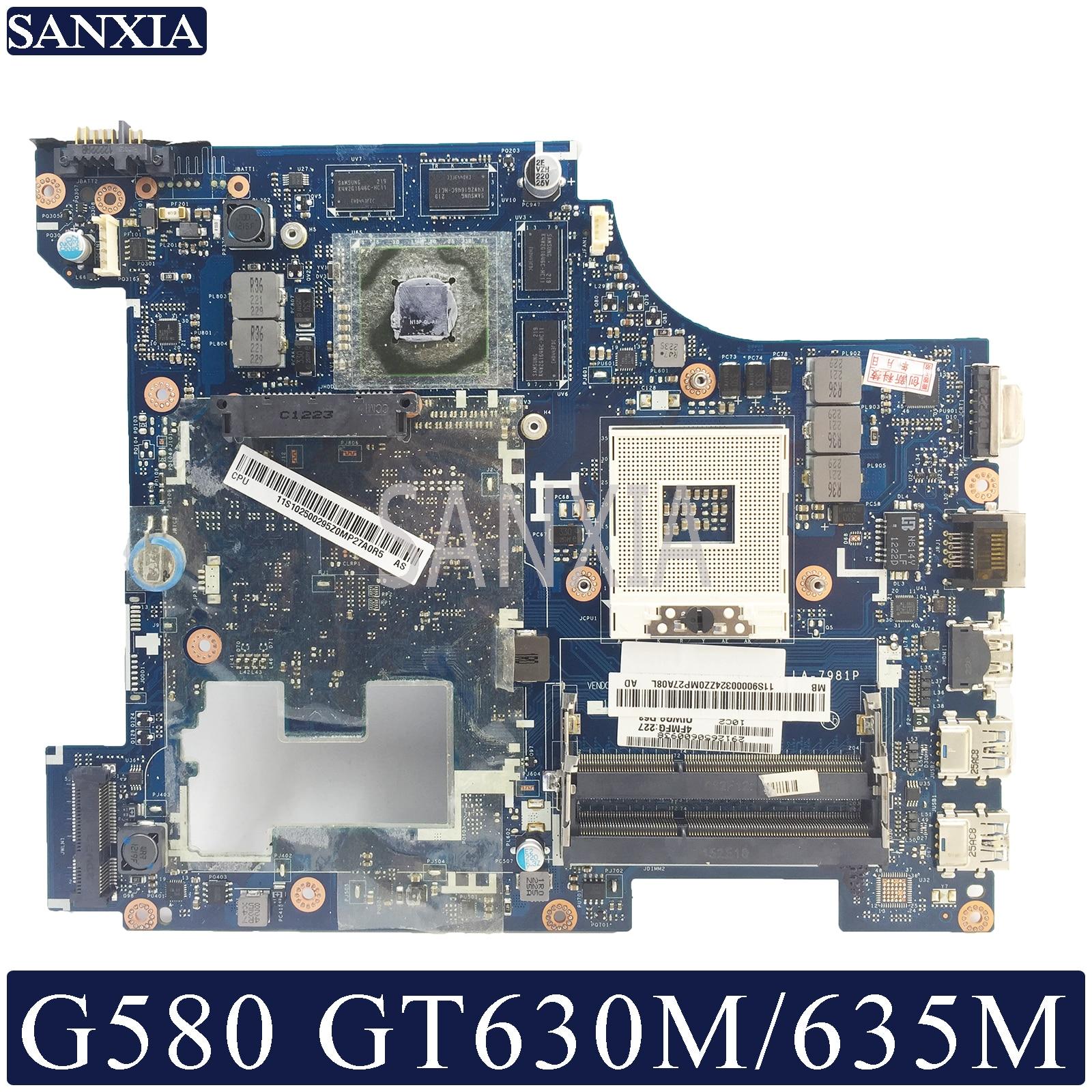 KEFU LA-7981P Laptop Motherboard For Lenovo G580 Original Mainboard GT630M/GT635M
