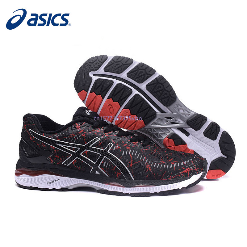 2019 Original ASICS GEL-KAYANO nuit course athlétique hommes chaussures unisexe 40-45 taille Sport chaussures hommes course chaussures baskets hommes