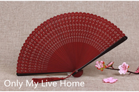 Openwork Full Bamboo Decorative Fan Japanese Mini Hand Held Fan Tassel Women Small Chinese Folding Fans