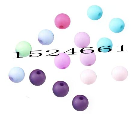FLTMRH 50 шт. разноцветные акриловые круглые бусины деревянные бусины украшения для тела шармы массивные бусины оптовая торговля Ремесла Рождество