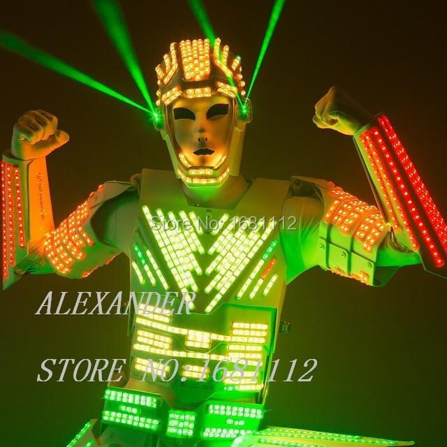 LED costumes de Robot/costumes légers/Costume de robot/Costume de LED/costumes de vêtements de LED/costumes de Robot ALEXANDER LED
