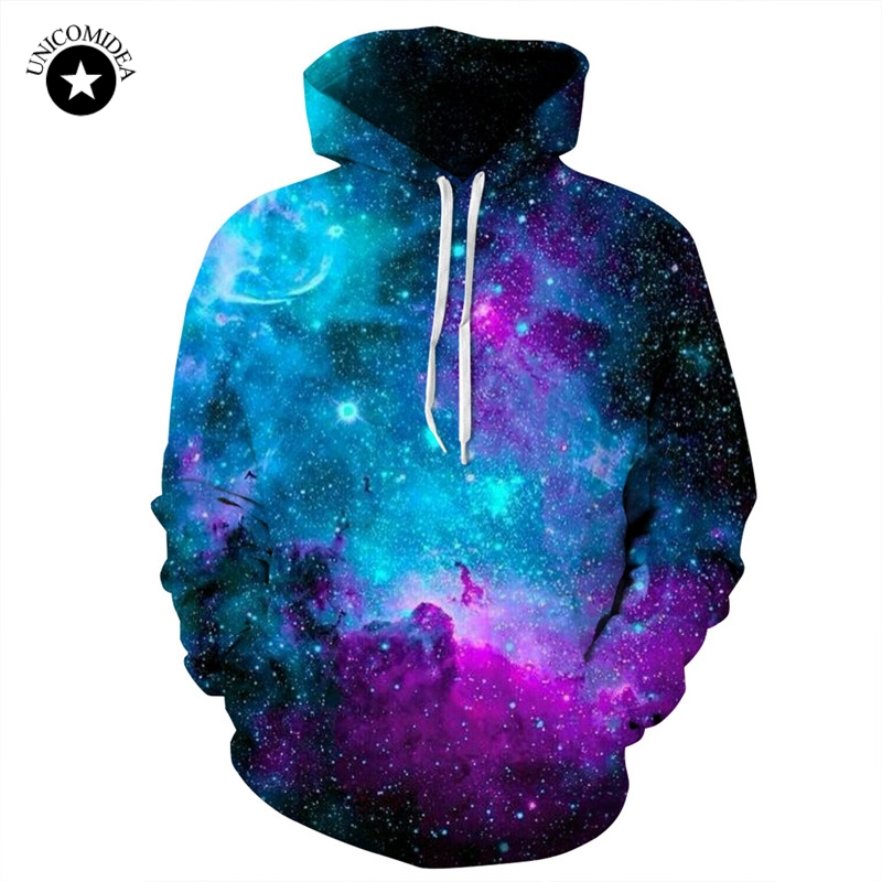 Dinosaur Sloth Galaxy Euro Size Men Hoodies Sweatshirts 3d Print Zipper Sweatshirts Cap Tops Men Hooded Nebula Jacket Dropship Men's Clothing