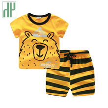 Boutique kids clothing Cartoon fox print tracksuit children clothes sets outfits toddler girls boys summer clothes 2 4 5 6 Years недорого