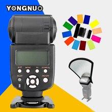 YONGNUO YN565EX TTL Speedlite de Destello YN-565EX N y Color Del Gel filtro de la lente y difusor de flash reflector para nikon d7100 d7000 dslr cámara