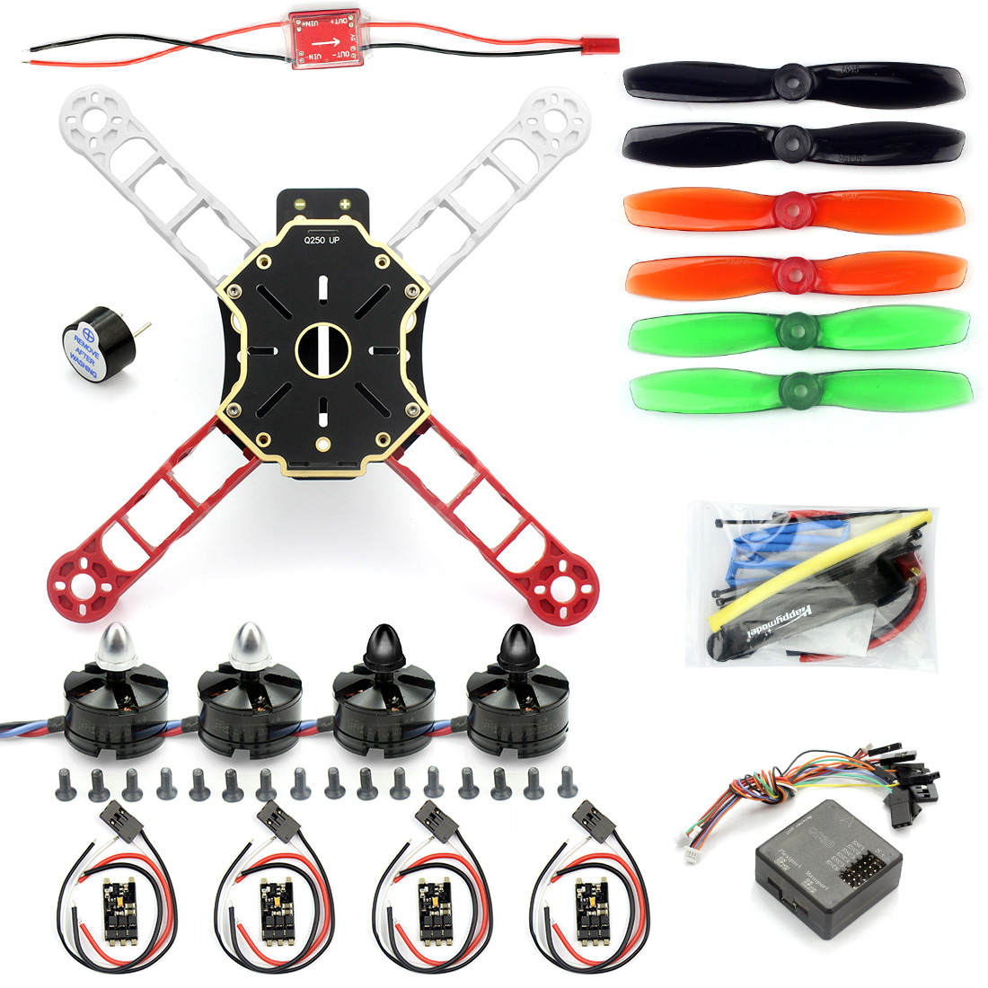 F11069 Mini 250 RC Quadcopter Combo ARF Q250 Frame CC3D Flight Controller Emax Simon 12A ESC Brushless Motor MT2204 CW CCW FS