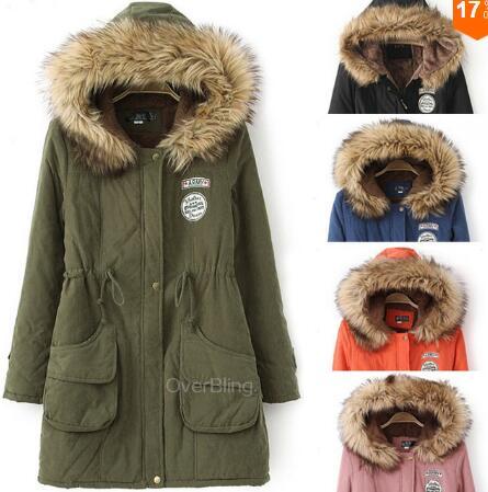 baratas para descuento 4bf63 8c996 2015 para mujer del abrigo esquimal Outwear Casual militar ...