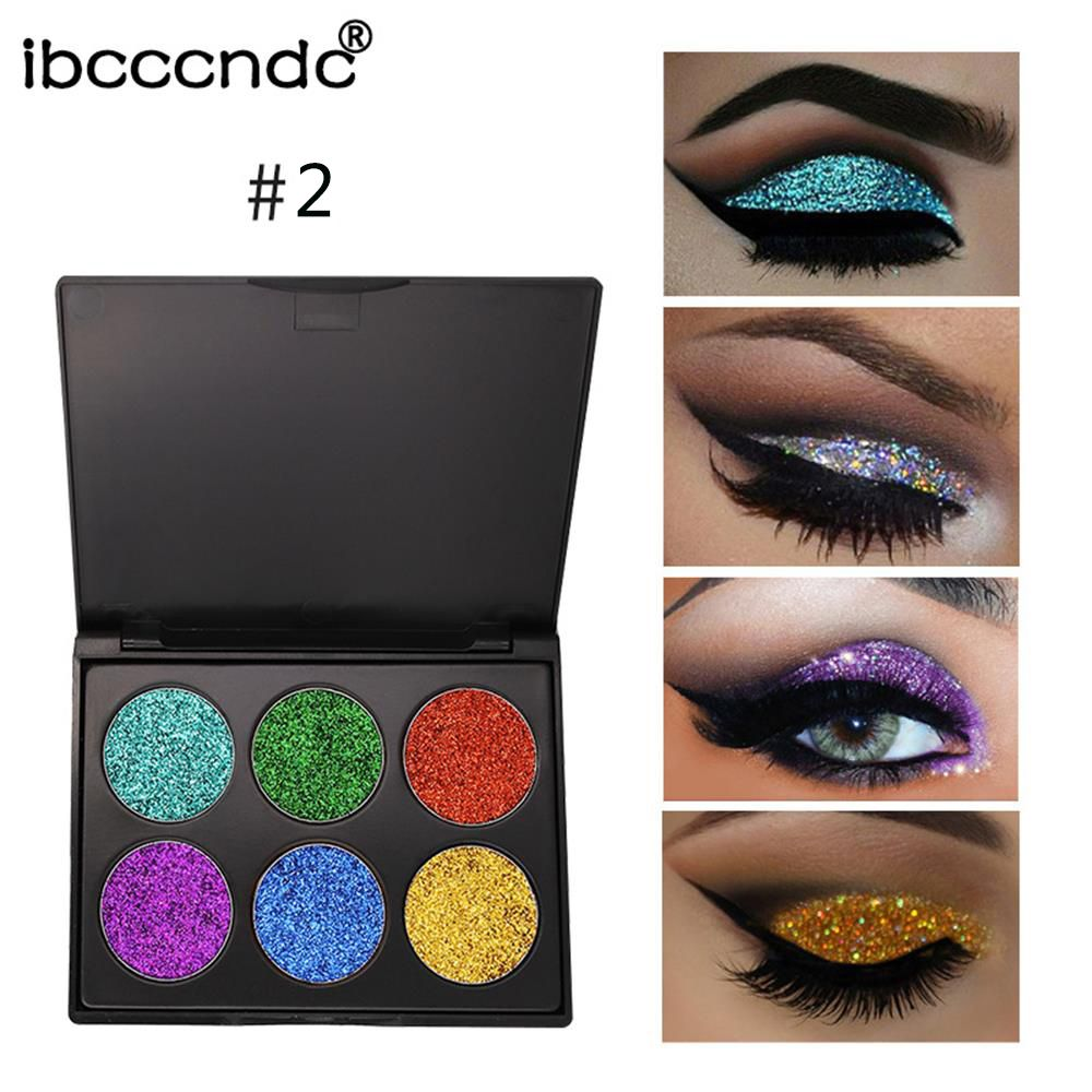 6Colors 55g Shimmer Glitter Eye Shadow Powder Palette