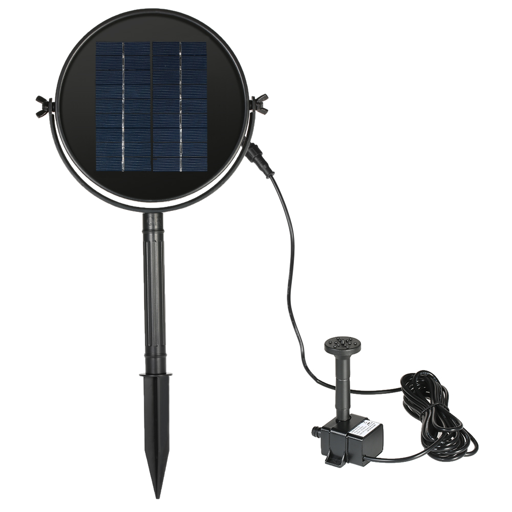 Solar power water floating fountain pump pool garden water for Garden pool pumps