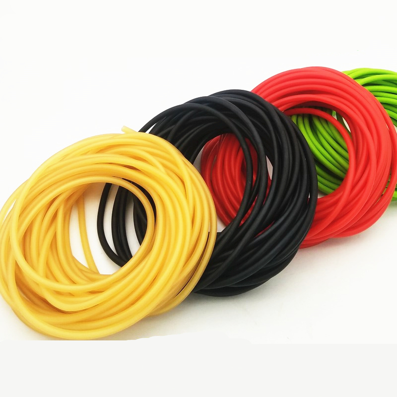 5m Slingshots  Rubber Band 5 Color Catapult Natural Latex  Elastic Resilient For Shooting Slingshots Rubber Band Catapults