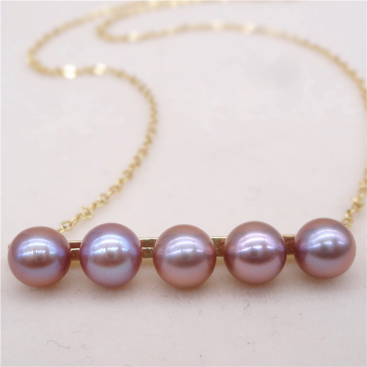 Eternal wedding Women Gift word 925 Sterling silver real Genuine new rare thick purple circle to the aurora pearl necklace balan
