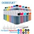1000 ml/Flasche Pigment Tinte Flasche Für Epson L800 L805 S22 T50 P50 T26 TX109 CX4300 P600 P800 Drucker tinte Pigment Tinte Für Epson-in Tinten-Nachfüllkits aus Computer und Büro bei