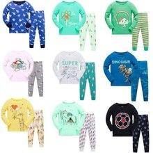 Купить с кэшбэком 2018 kids pajamas sets Baby girl and boys clothes sweet dreams pijamas baby boys girls cartoon long sleeve T-shirt+Pants 2pcs