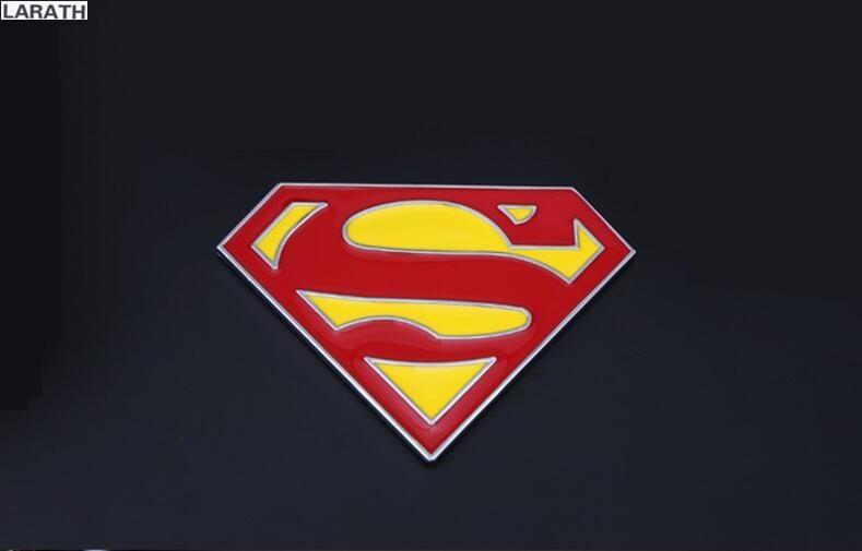 Superman Car Accessories: 50pcs Classic Chrome Metal Superhero Car Body Stickers