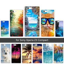 for Sony Xperia Z3 Compact Mini D5803 D5833 Soft TPU Cases Clear Silicone Scen Back Cover for Sony Xperia Z3 Mini Coque(China)