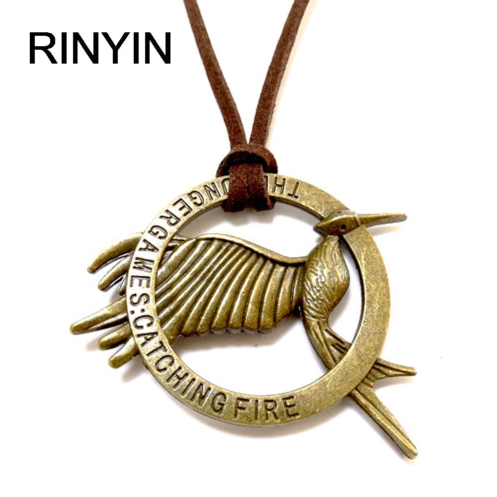 Velvet Necklace Leather Jewelry Punk Jewelry Vintage Necklace Hiphop Rock Style <font><b>The</b></font> Hunger Games <font><b>Catching</b></font> <font><b>Fire</b></font> Bird M1363