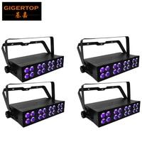4 unids/lote 50 vatios Barra de luz LED ultravioleta con 16x3 vatios LED de alta potencia en doble fila matriz caja de aluminio etapa lavadora UV