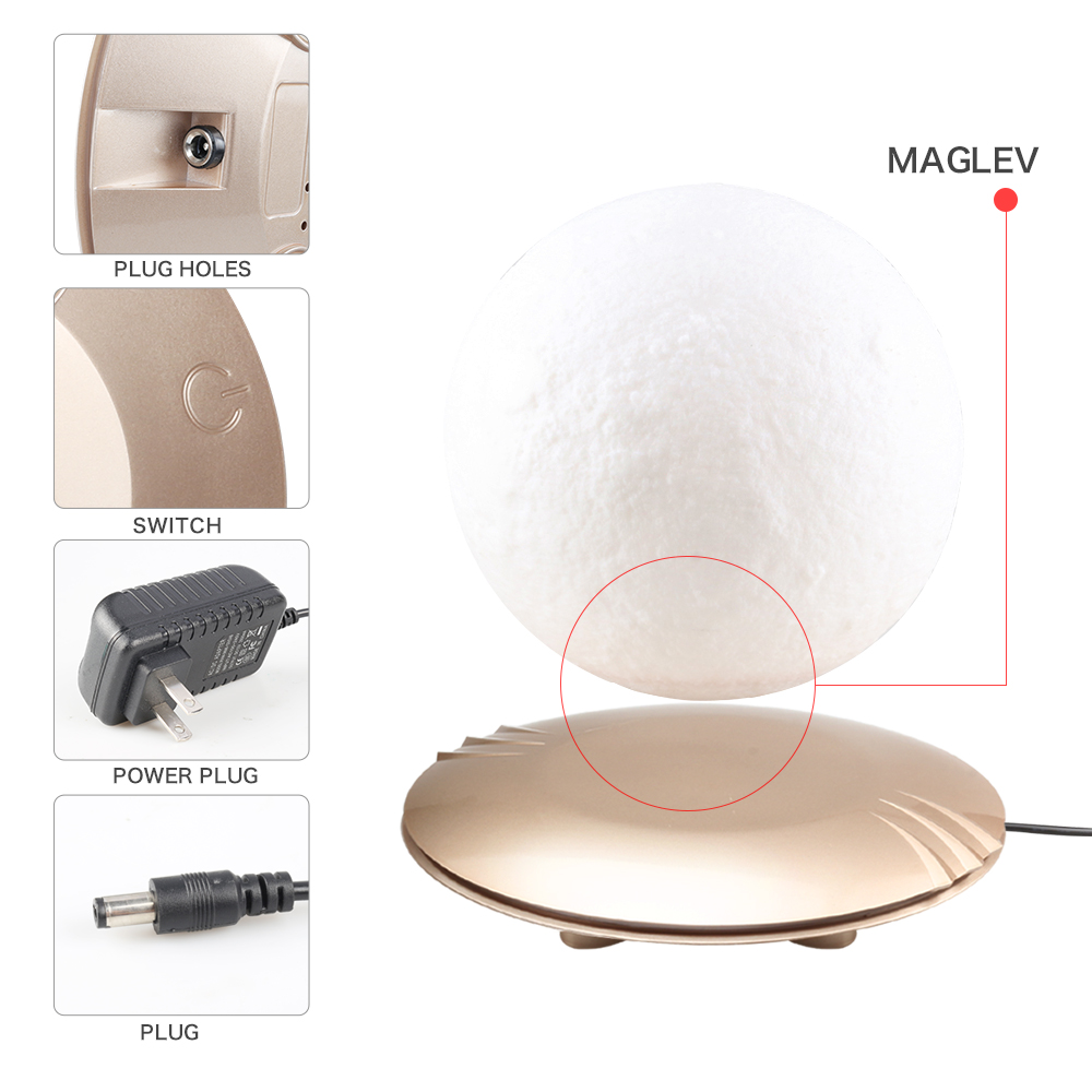 3D Afdrukken Maan Lamp Levitating 7 Kleuren Veranderende LED Nachtlampje voor Thuis Kerst Decoratie Drop Shipping US/EU /AU # - 5