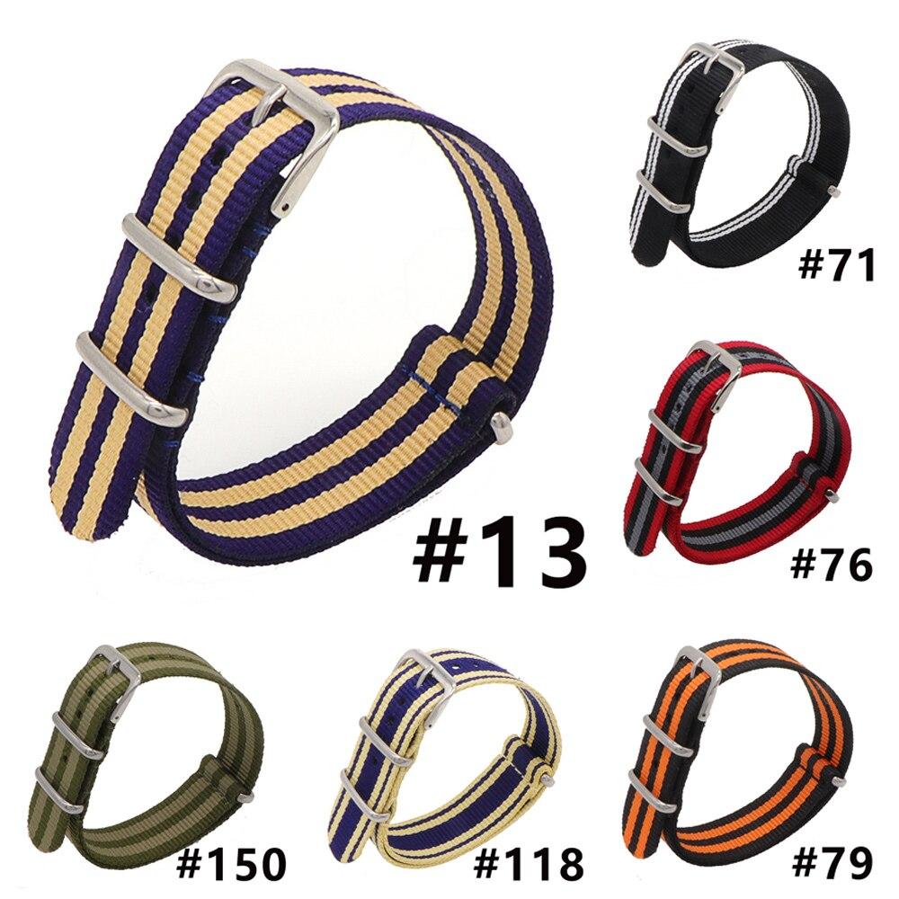Zelfverzekerd Groothandel 22mm Multi Kleur Zwart Oranje Army Sports Nato Stof Nylon Horlogebanden Horlogebandje Accessoires Bands Buckle Riem Pols