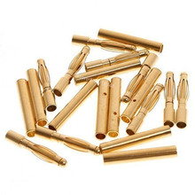 20 Pairs 2mm Gold Bullet Banana Plug Connector RC Battery ESC Replacement For RC Airplane Car Boat Helicopter