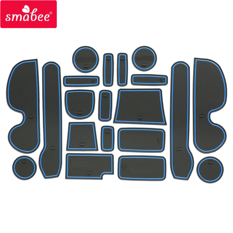 smabee Gate slot pad For HONDA Mobilio 2015-2017 Accessories,3D Rubber Door Pad/Cup 17PCS