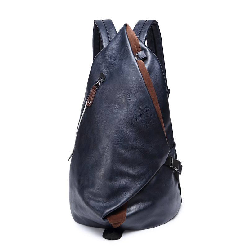 ФОТО New Dumpling Shape PU Leather Kanken Youth Backpack Space Male and Female Travel Bag Large Capacity for 9.7-14 Inch Computer Bag