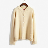 Real Shot 013 Ulzzang Korean Wild College Wind Loose Sweater Sweater Sweater Knitted Cardigan Jacket Female