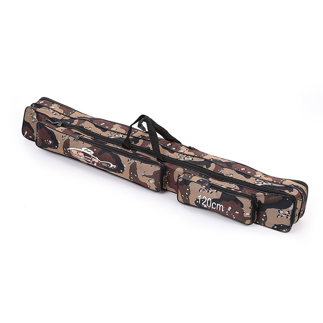 Best Offers Fishing Bag Large Capacity 1.2M Double Layer Fishing Rod Tackle Bag