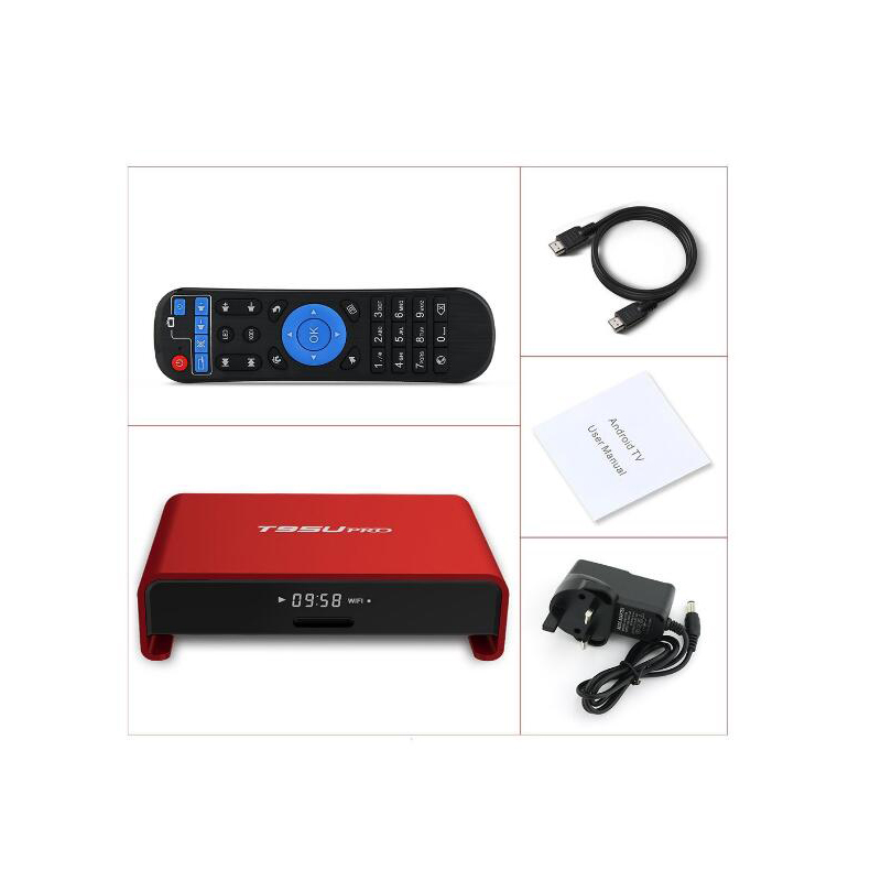 ФОТО 10pcs T95U PRO S912 2G 16G/3G 16G/3G 32G Octa core Cortex-A53 Android 6.0 TV Box WiFi 2.4G/5.8G Kodi 17.0 Load H.265 4K