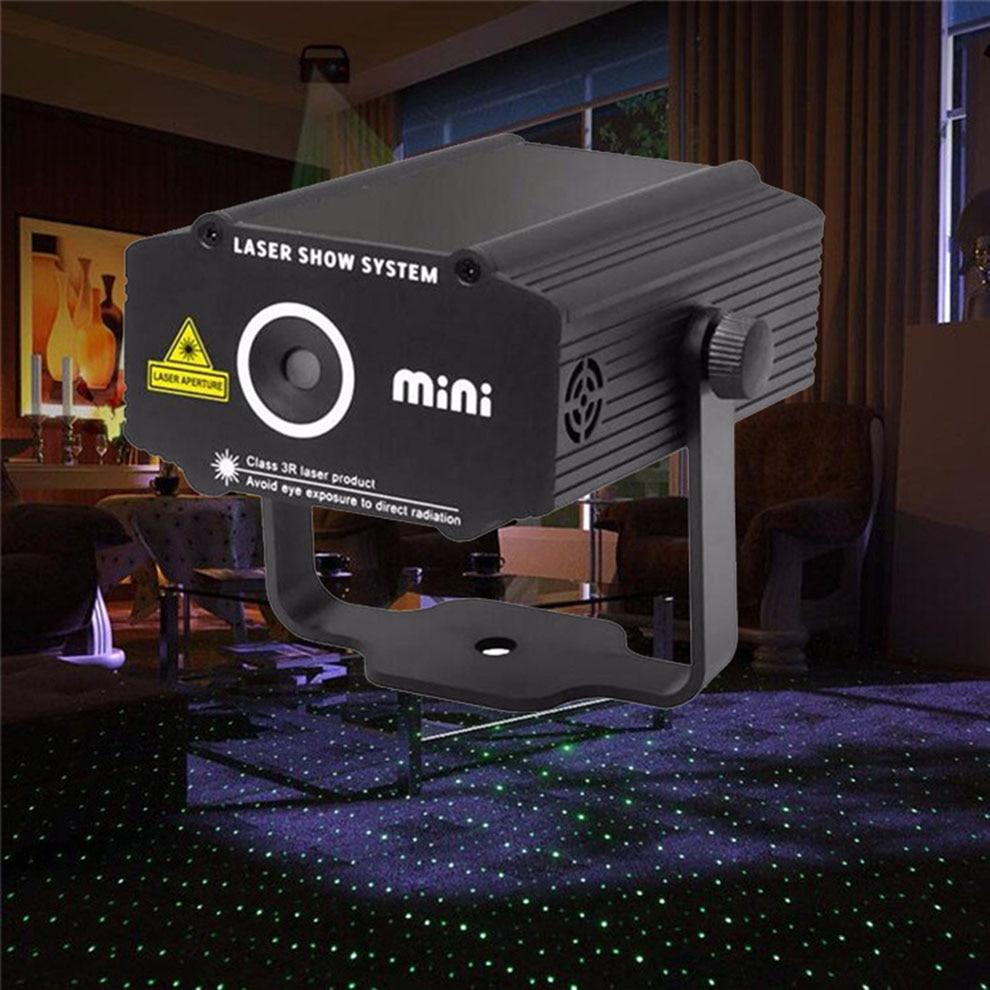 Red Green Mini Laser Stage Light Projetor Professional Mixing Disco Home Party Dj Ilumiere Lights Show Luz Para Discoteca 220V