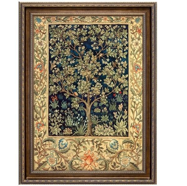 New Lucky Tree Scenery Embroidery Needlework Crafts 14CT Unprinted DMC DIY Quality Cross Stitch Kits Handmade Arts Decor