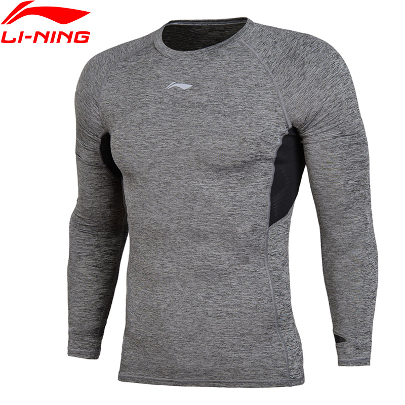 Li-Ning Men Running T-Shirt Long Sleeve Tight Fit Breathable Fitness Comfort LiNing Sports Tee Tops AUDN033 MTL989
