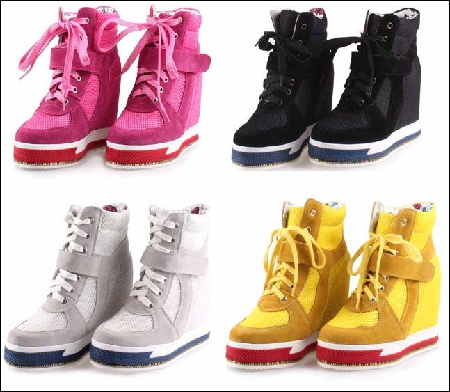new 2017 women's wedges high heel casual shoes platform ...