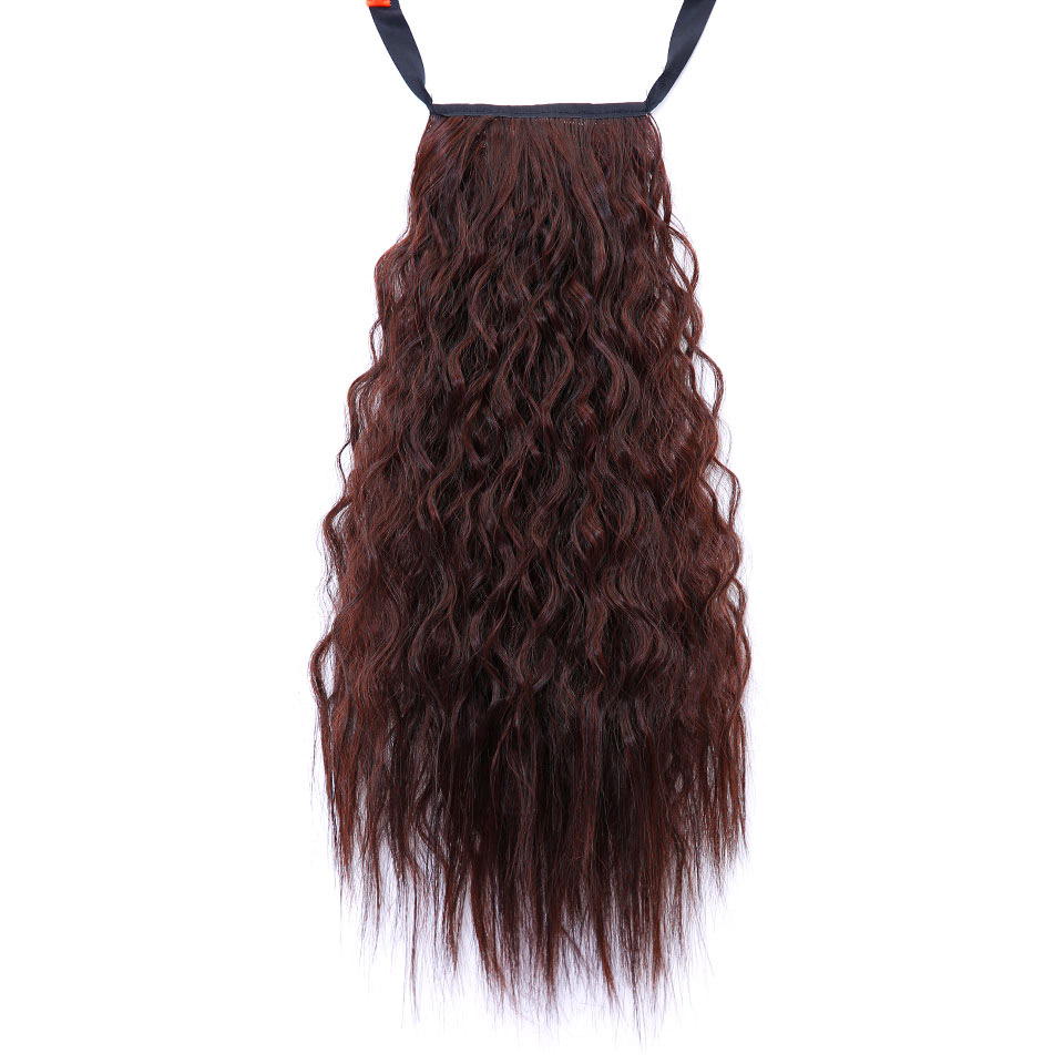 JINKAILI WIG Long Wavy Hair Extensions New Women Girls Cute Synthetic Long Wavy Ponytail Lovely Hair Extensions