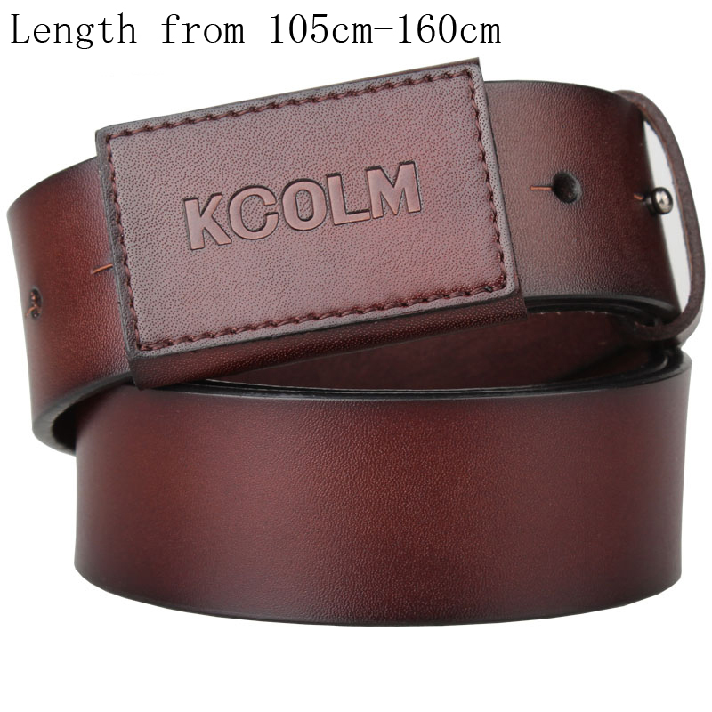 Lengthened Belt For Men Extra Long Genuine Leather Belt Male Strap Waistband Men's Full Leather Anti Allergy Belt 3.8cm Width