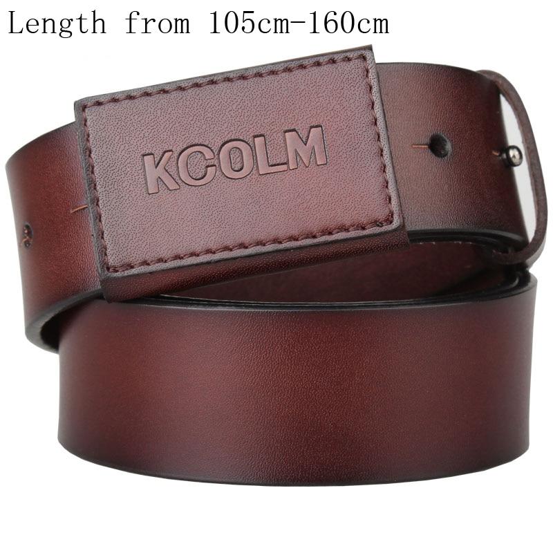 Lengthened Belt For Men Extra Long Genuine Leather Belt Male Strap Waistband Men's Full Leather Anti Allergy Belt 3.8cm Width