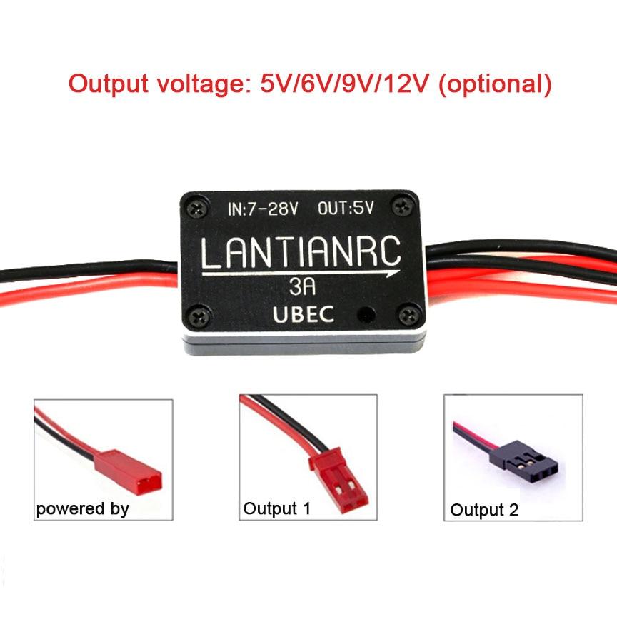 все цены на Drone Accessories DIY BEC 3a 3V3 5V 6V 9V 12V Metal Mini Micro Bec Connector Voltage Regulator Power Board 3A UBEC Module онлайн