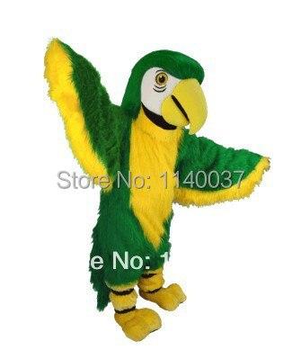 Mascote adulto tamanho da mascote papagaio verde aves mascotte mascota outfit suit partido cosply carnival costume fancy dress