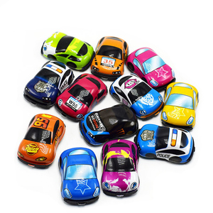 Image 5 - 6pcs Pull Back Car Toys Car Children Racing Car Baby Mini Cars Cartoon Pull Back Bus Truck Kids Toys For Children Boy Gifts GYH
