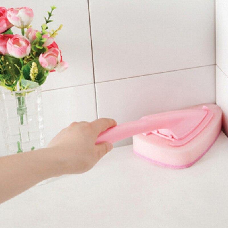 Triangoli Forma Testa Cucina Bagno Spazzola Per La Pulizia Igienica Strumento Di Pulizia Sporco Mais Cleaner Rendere Le Cose Convenienti Per Le Persone