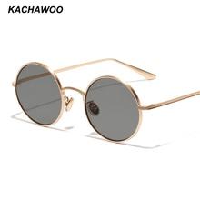 6b895d62c6 Kachawoo 6pcs small round sunglasses women gold metal frame circle sun glasses  men