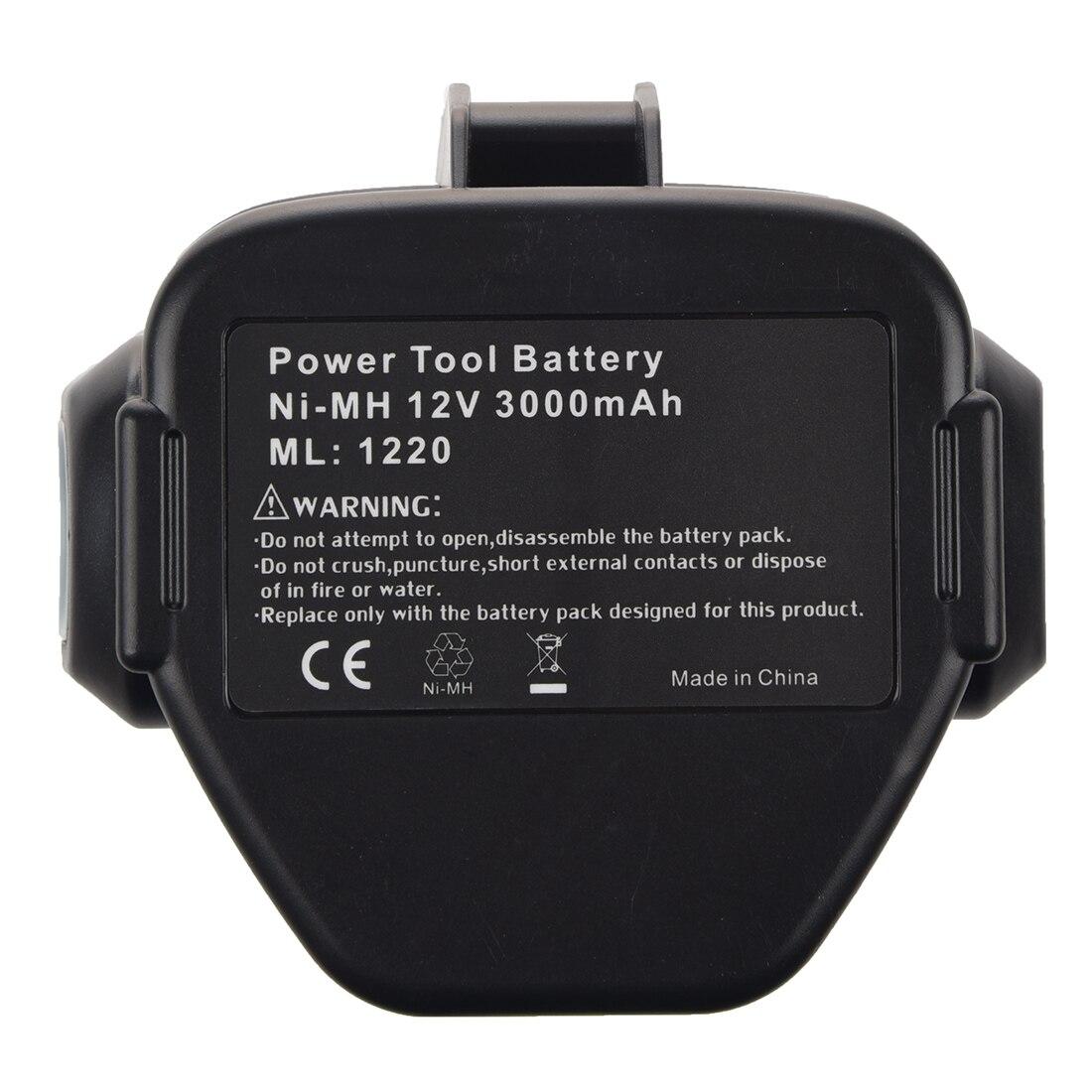 Nouvelle batterie 12 volts Ni-MH pour MAKITA 3.0 Ah 1233 1234 noir et grisNouvelle batterie 12 volts Ni-MH pour MAKITA 3.0 Ah 1233 1234 noir et gris
