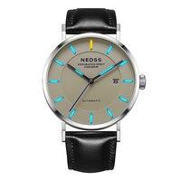 NEDSS Swiss Tritium watch Miyota 9015 automatic watch Men's Casual Stainless Steel DW style wrist watch sapphire 50m Waterproof