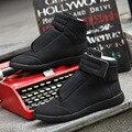Новая Мода Высокие Верхние Мужчины Повседневная Обувь 2016 Осень Городской Уличной Кожа Твердые Красные Днища Для Мужчин Обувь Высокого Качества
