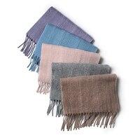 100 Goat Cashmere Boutique Fashion Neutral Color Scarfs Narrow Long For Unisex 30x180cm Wholesale Retail